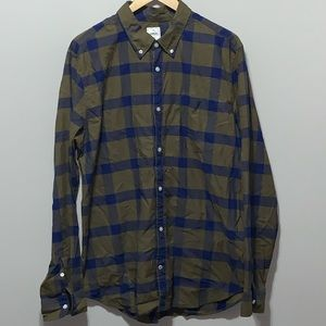 GAP Button Front Dress Shirt Lived In Long Sleeve